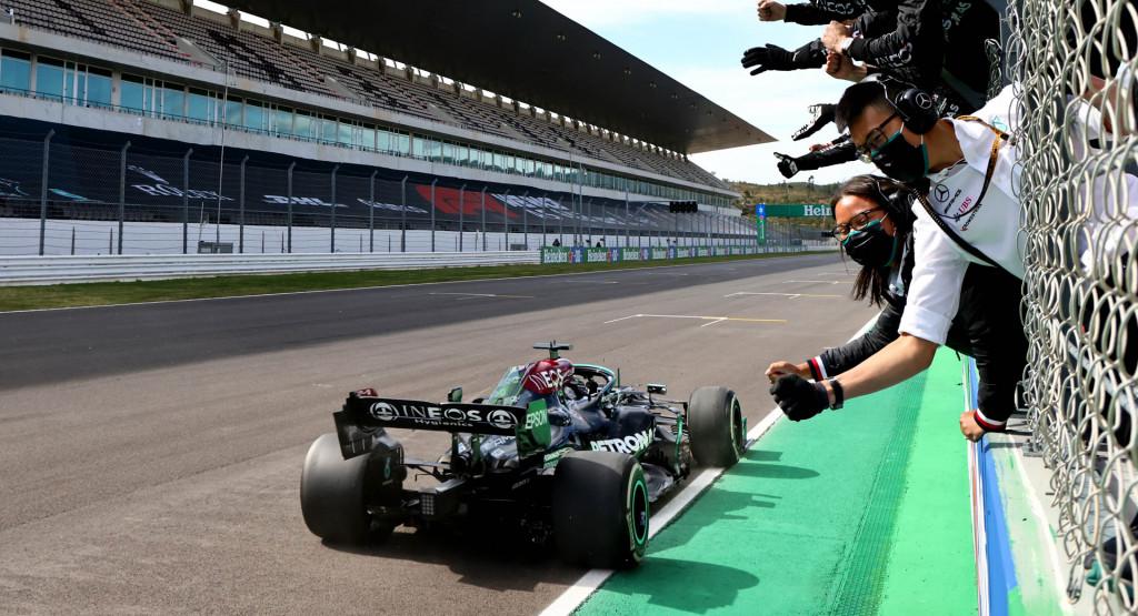 Lewis Hamilton at the 2021 Formula One Portuguese Grand Prix