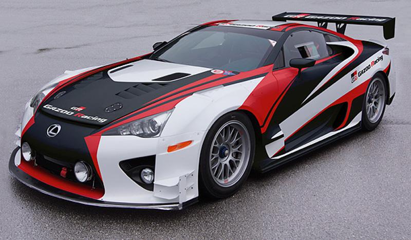 Lexus LFA race car prepared by Gazoo Racing