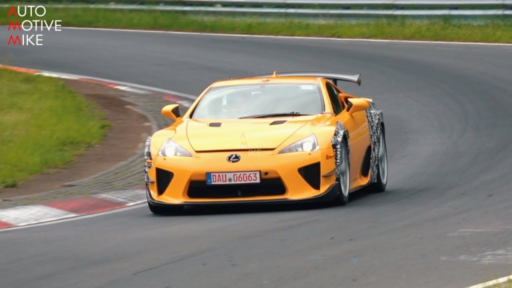 Lexus LFA widebody curiously spotted testing at the Nürburgring