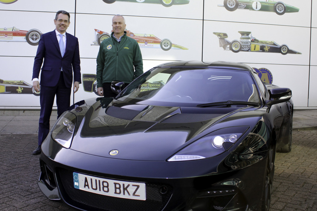 A Chapman is back behind the wheel of a Lotus
