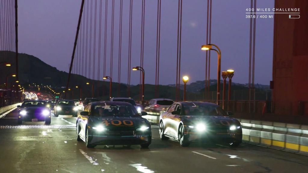 Lucid Air range test video - Golden Gate Bridge