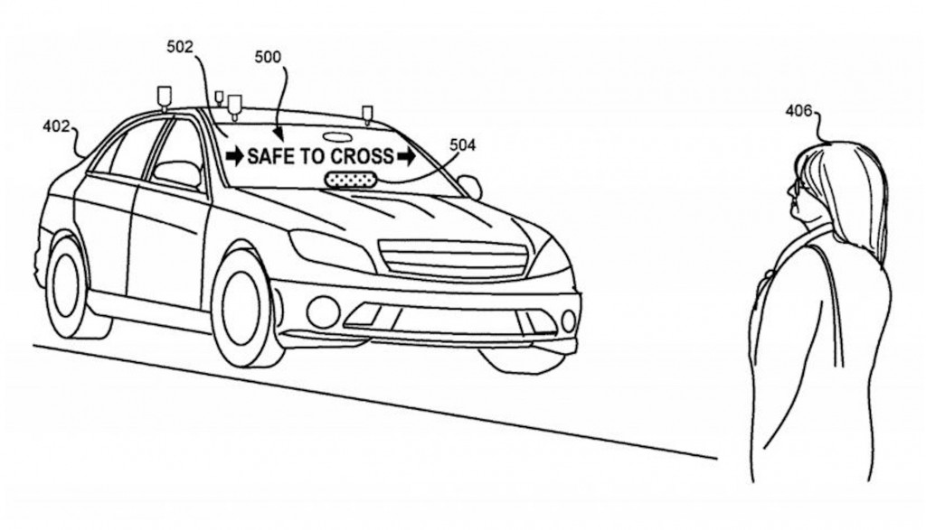 Lyft patents pedestrian notification system for self-driving cars