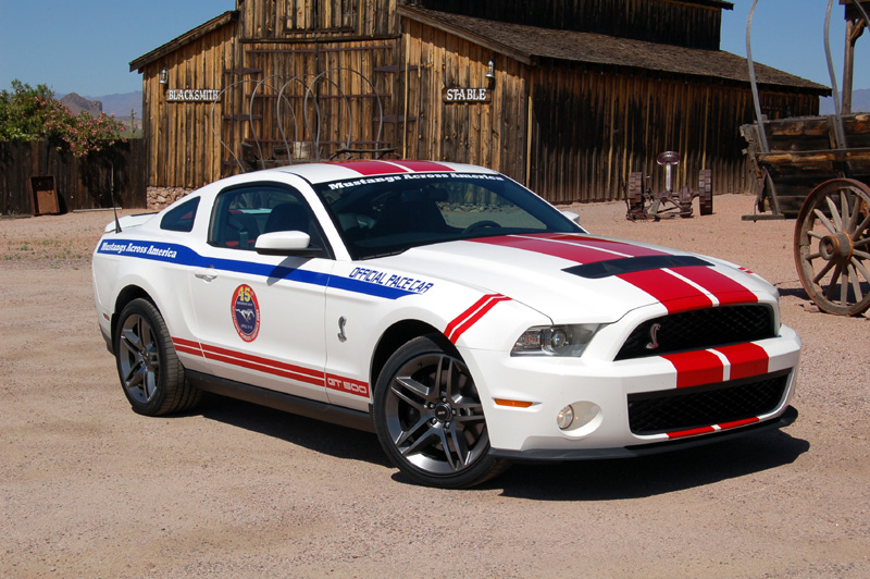 2010 Shelby Gt500 To Pace Mustangs Across America 45th Anniversary Drive