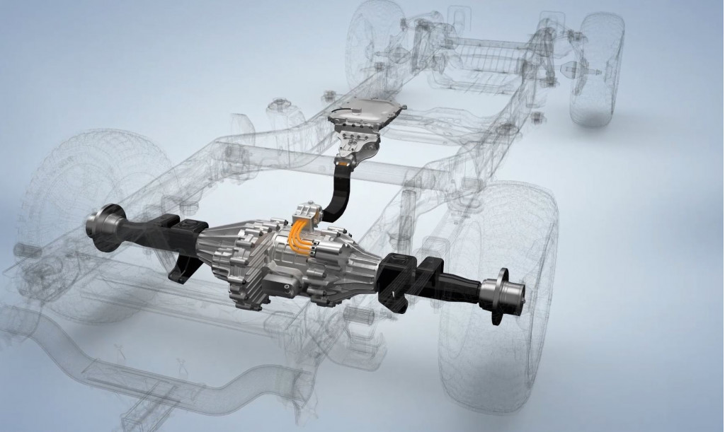 Magna eBeam propulsion system for electric or hybrid trucks