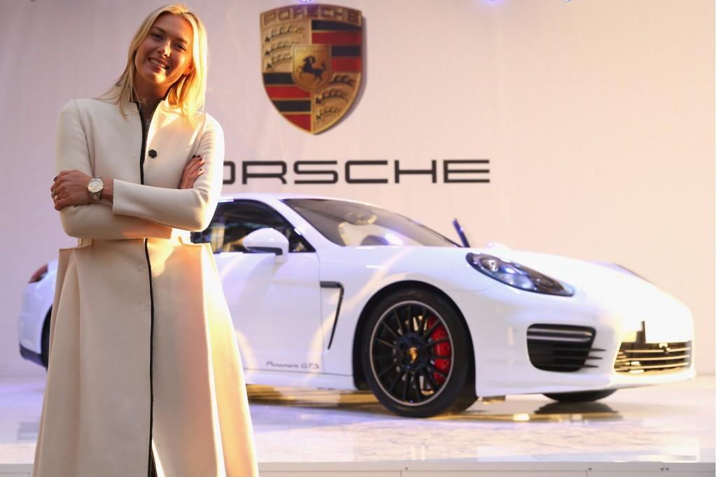 Maria Sharapova and her personalized 2013 Porsche Panamera GTS