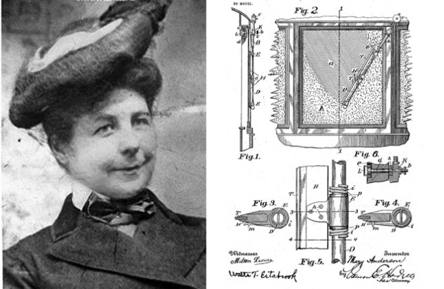 Mary Anderson and her patent | Photo from EngineerGirl