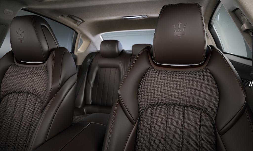 2020 Maserati Quattroporte with Zegna Pelletessuta woven leather interior