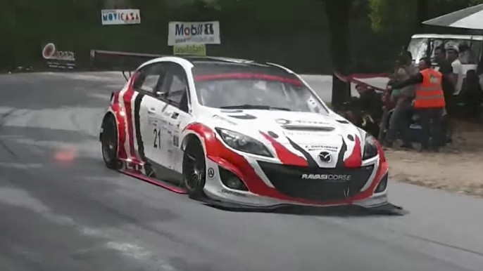 mazda 3 hill climb car hides a high horsepower rotary secret. Black Bedroom Furniture Sets. Home Design Ideas