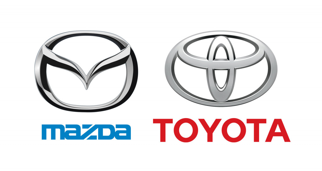 Mazda and Toyota logos