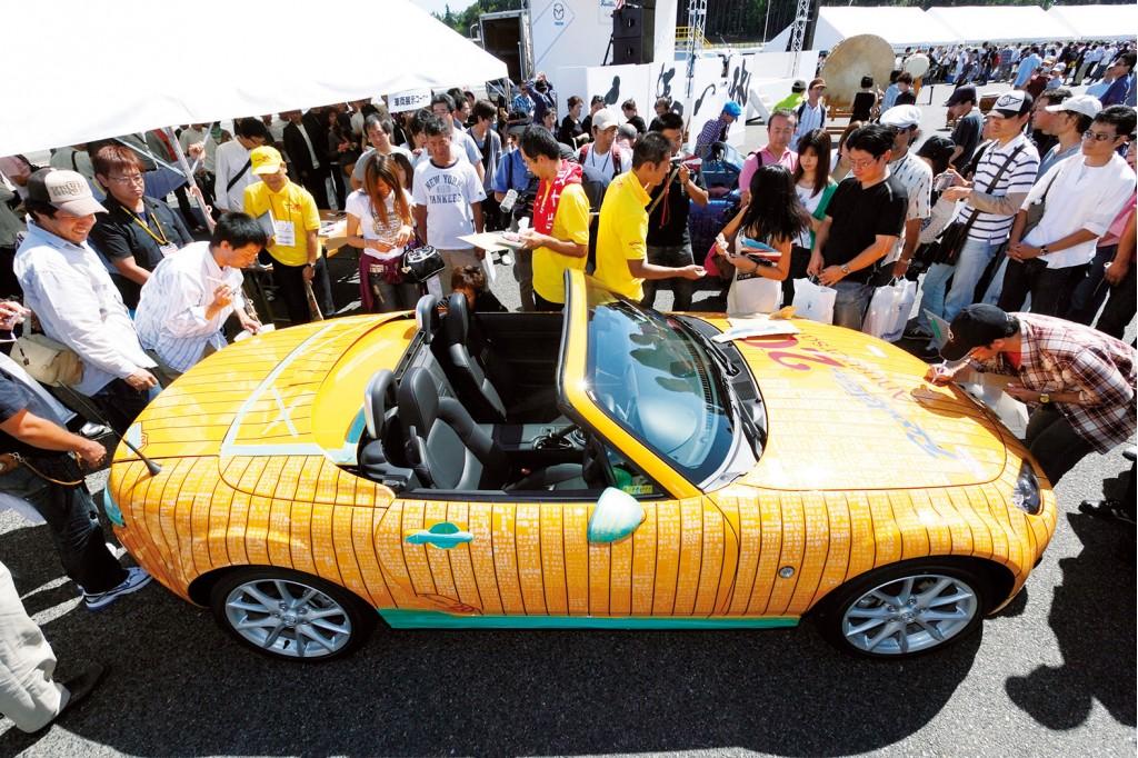 Mazda Miata from 20th anniversary celebrations in Japan