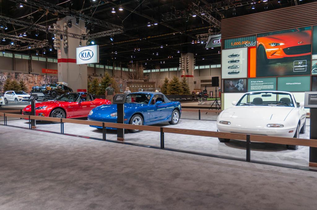 Mazda MX-5 Miatas, 2019 Chicago Auto Show