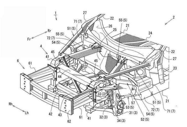 Mazda rear-wheel drive patent