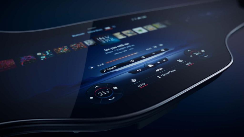 MBUX Hyperscreen from Mercedes-Benz EQS