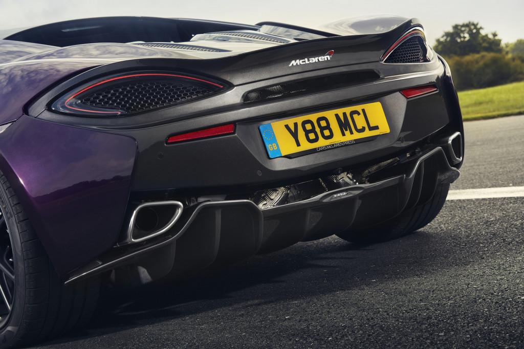 McLaren 570S with titanium SuperSports exhaust