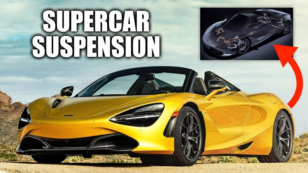 Take a closer look at the McLaren 720S supercar's complex suspension