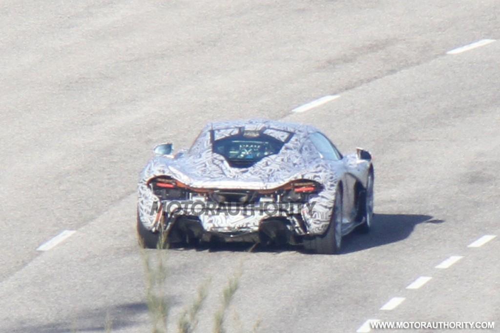 McLaren P1 supercar spy shots