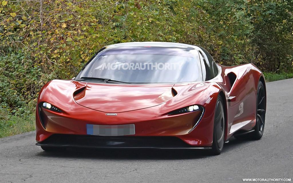 McLaren Speedtail spied on the street