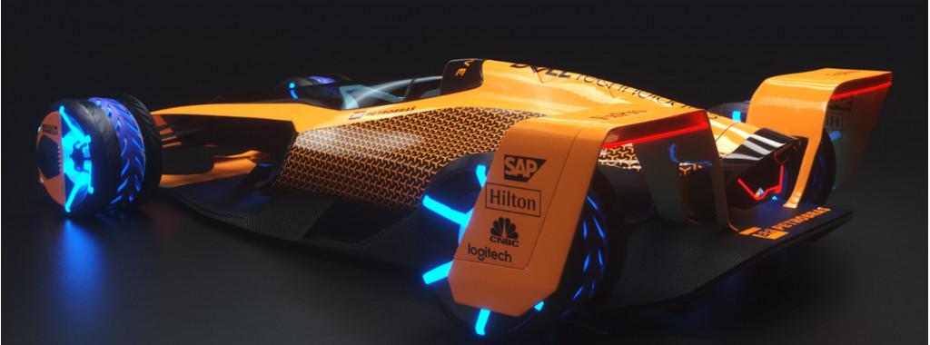 McLaren 2050 F1 race car: 300-mph EV that can shape-shift