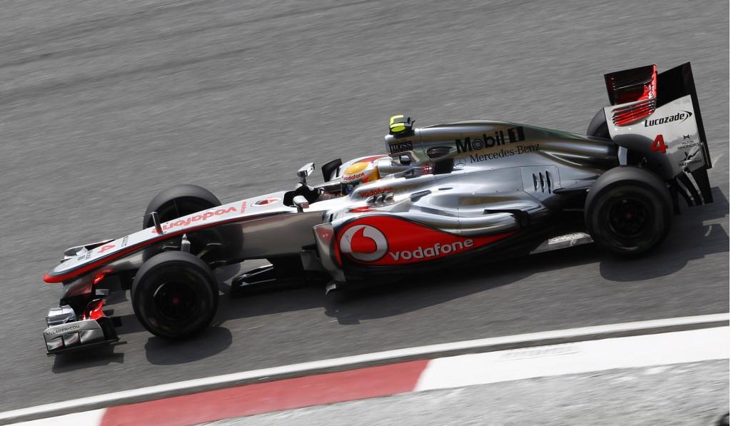 McLaren's Lewis Hamilton in the MP4-27