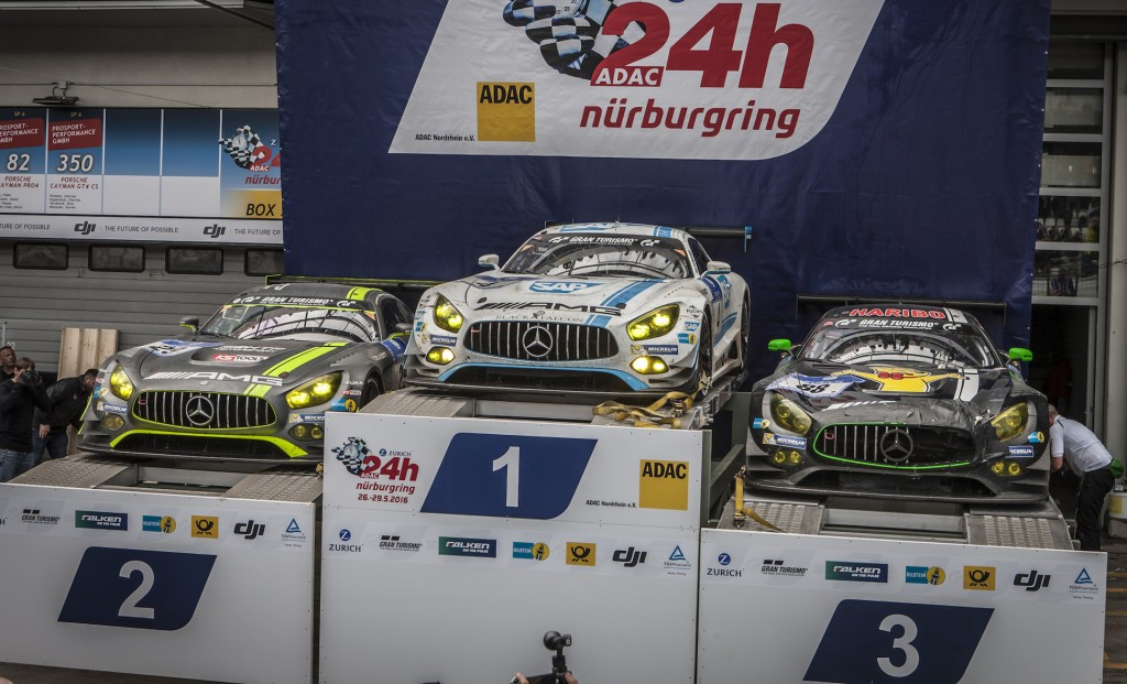 Mercedes-AMG GT3 one-two-three-four finish at 2016 Nürburgring 24 Hours