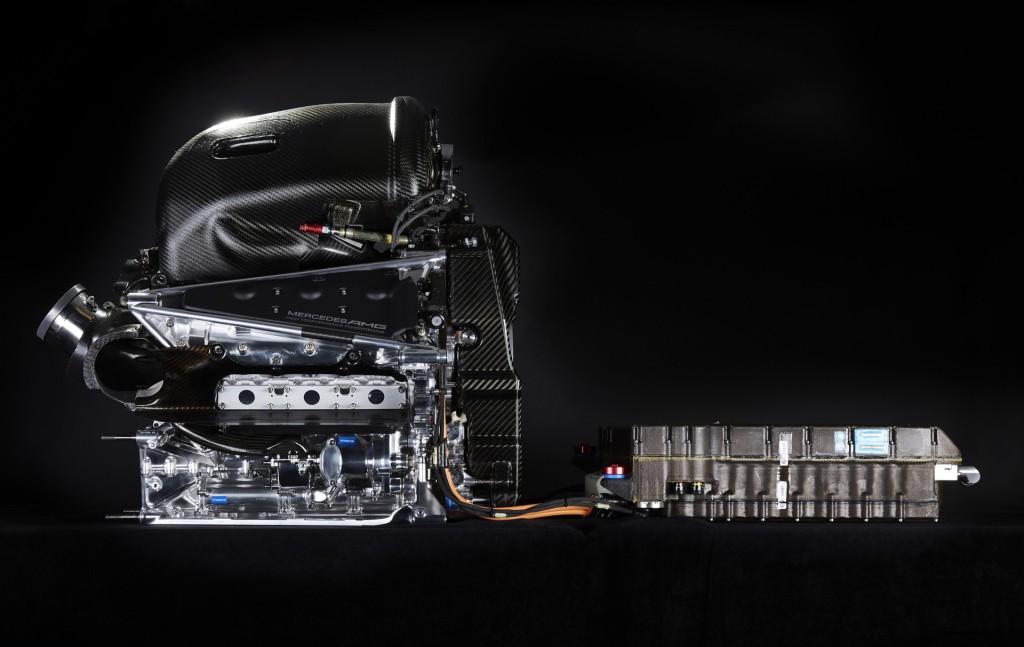 Mercedes AMG W07 Hybrid 2016 Formula One car power unit