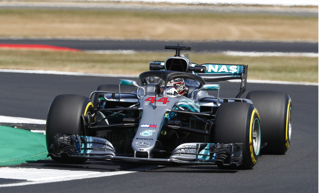 Mercedes-AMG's Lewis Hamilton at the 2018 Formula 1 British Grand Prix