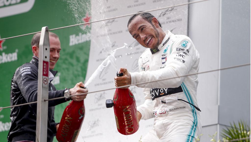 Mercedes-AMG's Lewis Hamilton at the 2019 Formula 1 Chinese Grand Prix