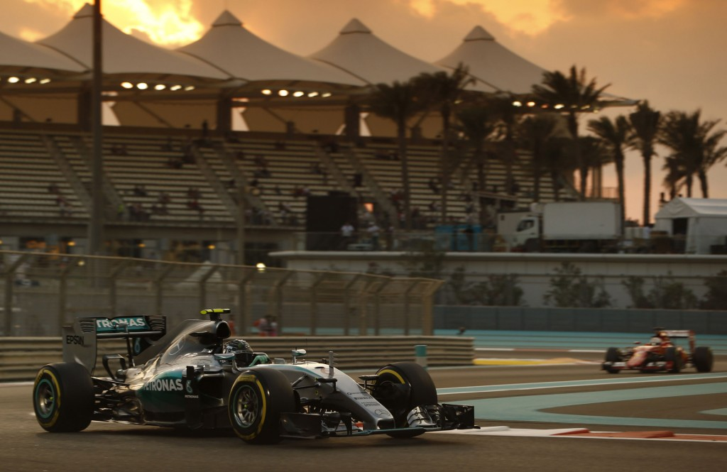 Mercedes AMG's Nico Rosberg at the 2015 Formula One Abu Dhabi Grand Prix