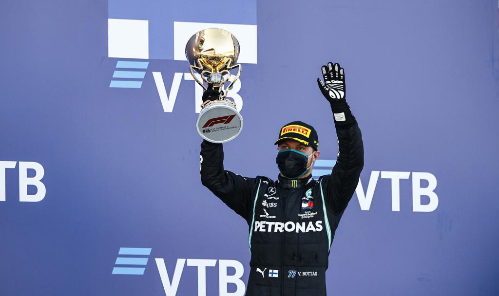 Mercedes-AMG's Valtteri Bottas at the 2020 Formula One Russian Grand Prix