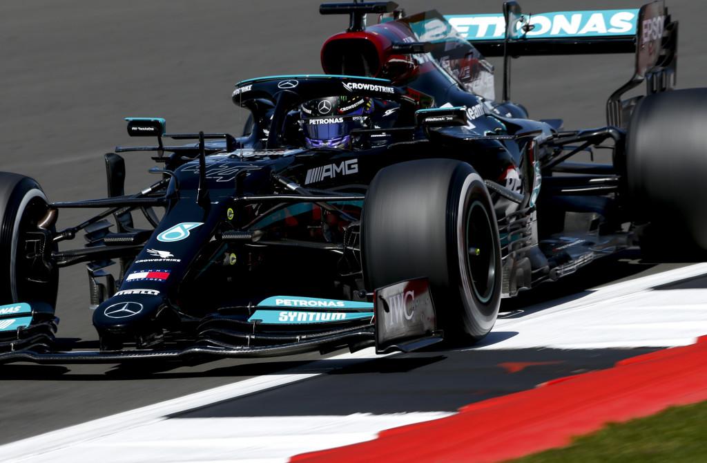 Mercedes-Benz AMG's Lewis Hamilton at the 2021 Formula One British Grand Prix