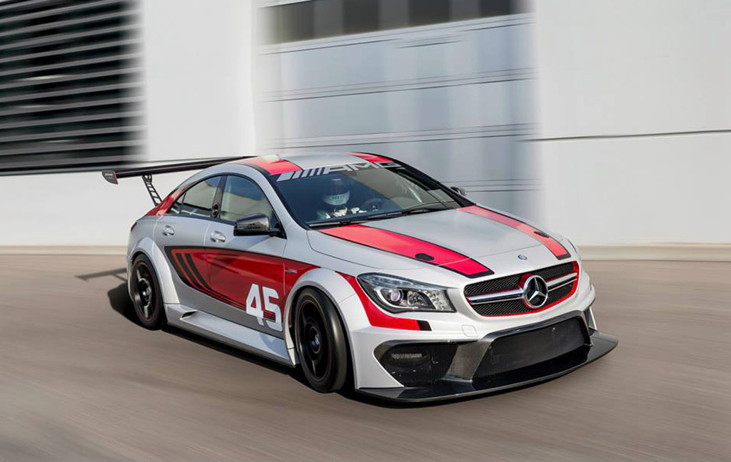 Mercedes benz reveals cla45 amg race car concept for Mercedes benz auto body