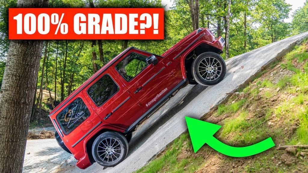 Can a Mercedes G-Wagen actually climb a 100 percent grade?