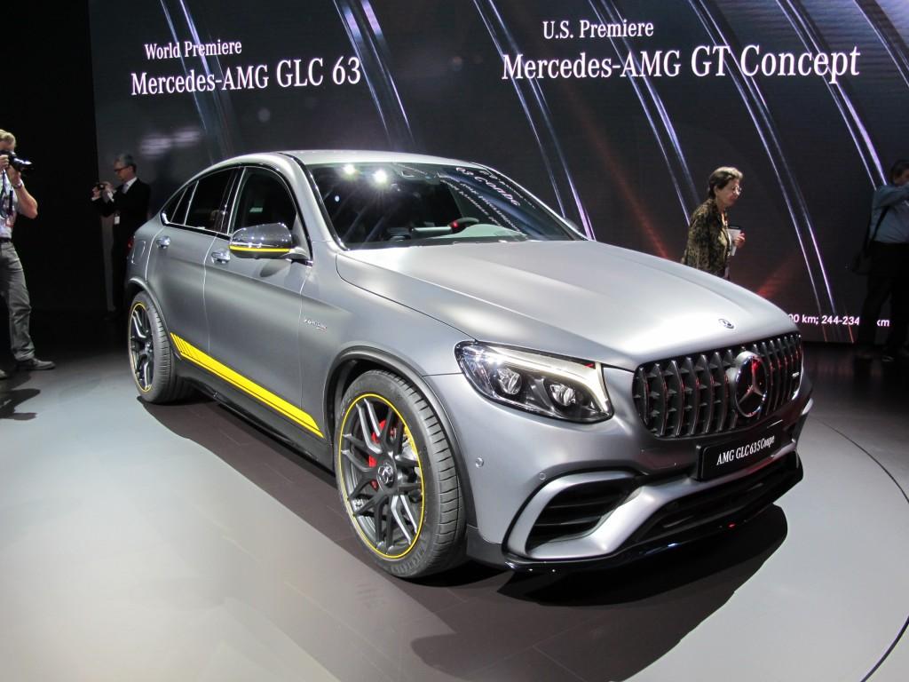 2018 Mercedes-AMG GLC63 Coupe, 2017 New York auto show