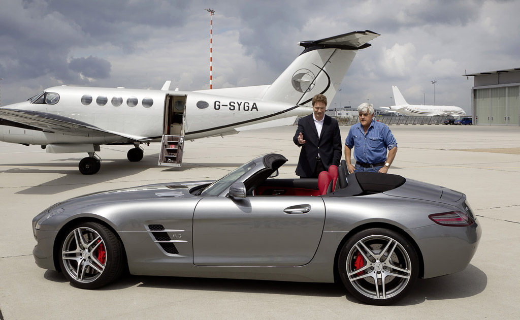 Image Jay Leno Tests The 2012 Mercedes Benz Sls Amg