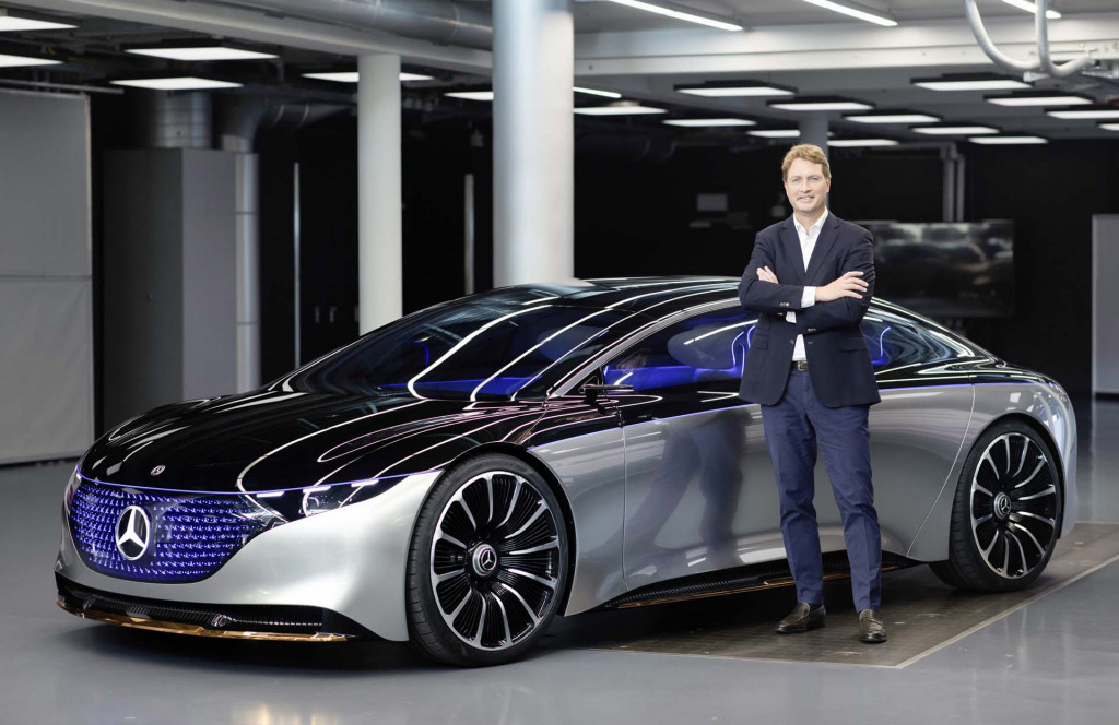 Ola Kaellenius with the Mercedes-Benz Vision EQS concept