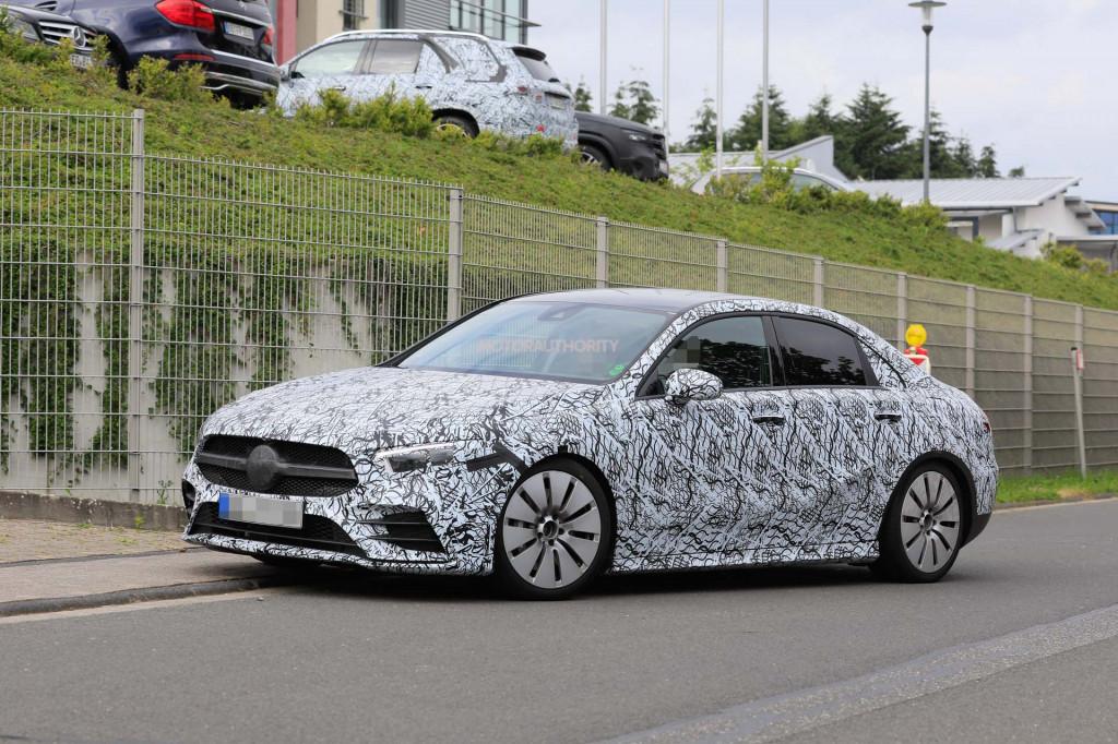 2019 Mercedes-AMG A35 sedan spy shots