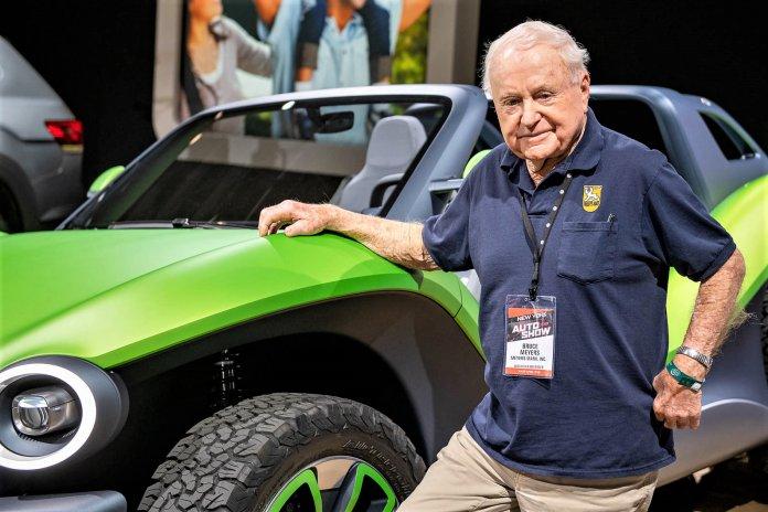 Meyers helped launch Volkswagen's electric dune buggy concept in 2019