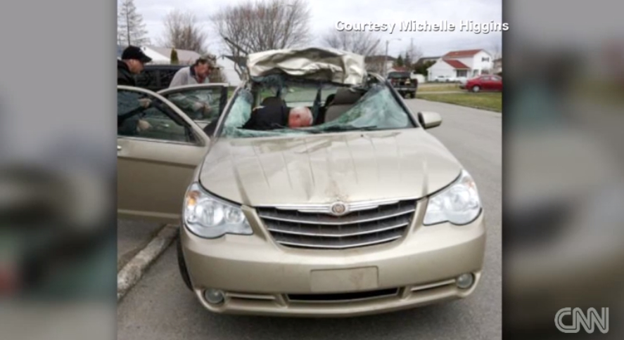 Driver Totals Car By Hitting Moose Makes Work On Time Video