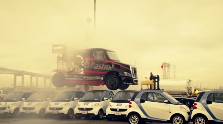 Size Matters 2: The Jumping/Drifting Semi Truck Is Back At Work In New Video