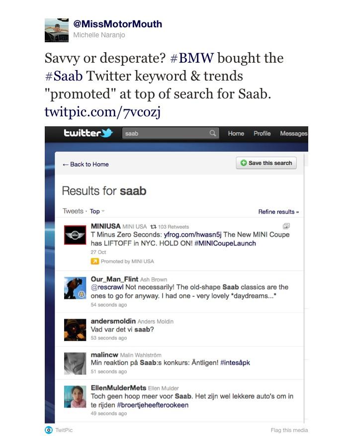MINI already using #Saab in advertising.