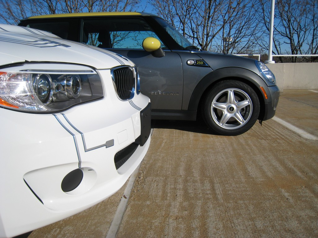 Mini E and BMW ActiveE electric cars, New Jersey, Dec 2011 (photos: Tom Moloughney)