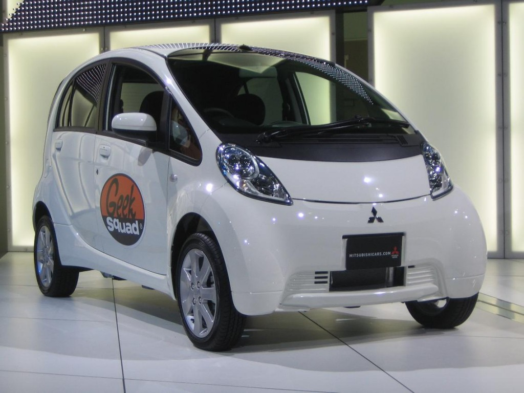Image Mitsubishi I Miev Electric Car For Geek Squad 2009 La Auto Show Size 1024 X 768 Type