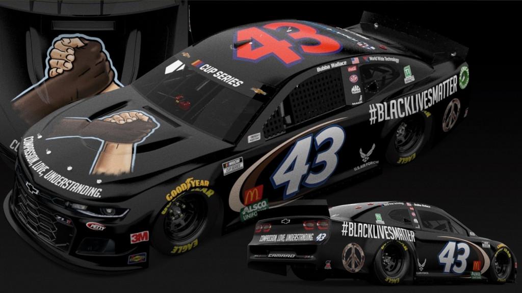 NASCAR #BlackLivesMatter Chevrolet Camaro (Photo by Richard Petty Motorsports via Twitter)