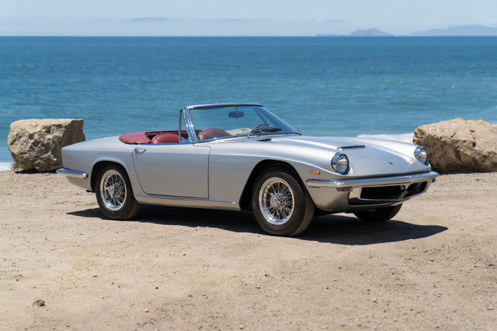 Neil Peart's 1965 Maserati Mistral Spider, image courtesy Gooding & Company.  Photo by Mike Maez.