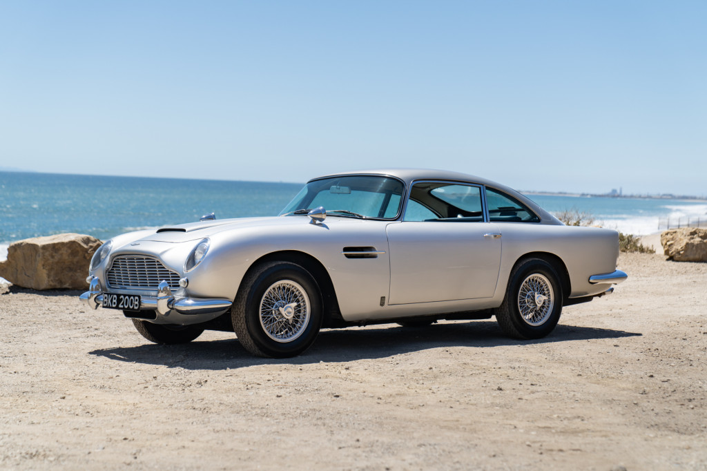 Neil Peart's 1964 Aston Martin DB5, image courtesy Gooding & Company.  Photo by Mike Maez.