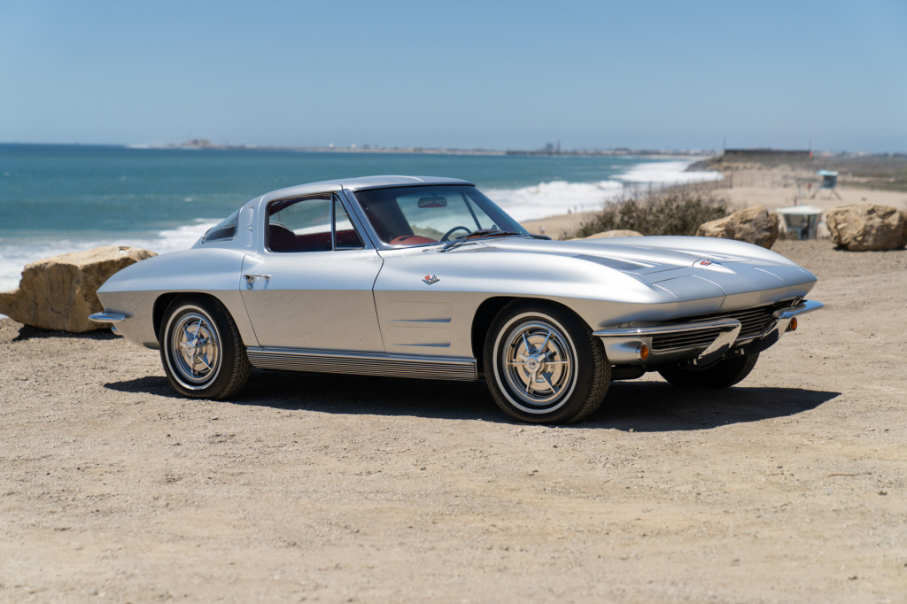 Neil Peart's 1963 Chevy Corvette, image courtesy Gooding & Company.  Photo by Mike Maez.