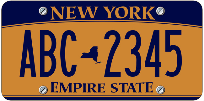New license plate design to be issued by New York State in 2010