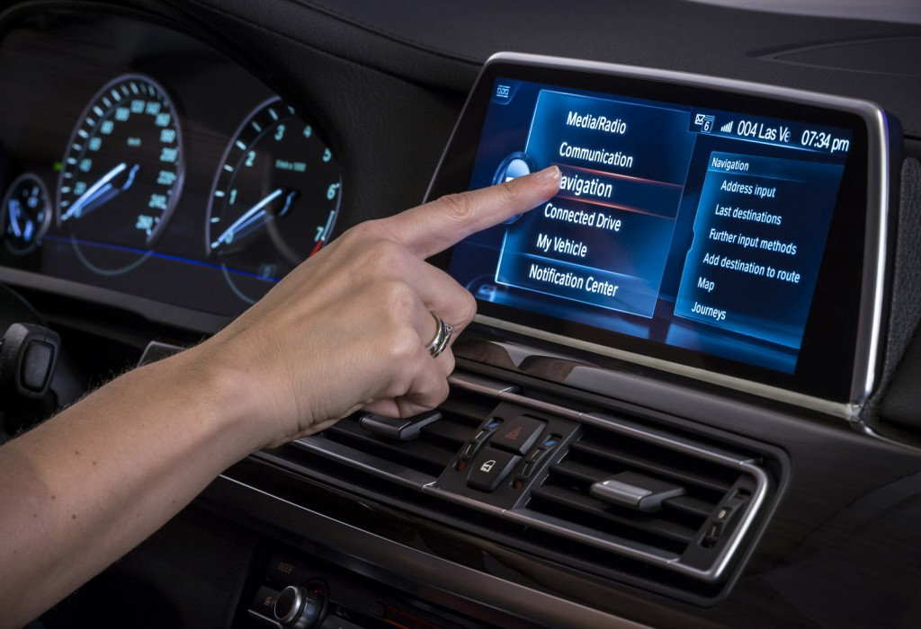 Next-generation BMW iDrive interface, 2015 Consumer Electronics Show