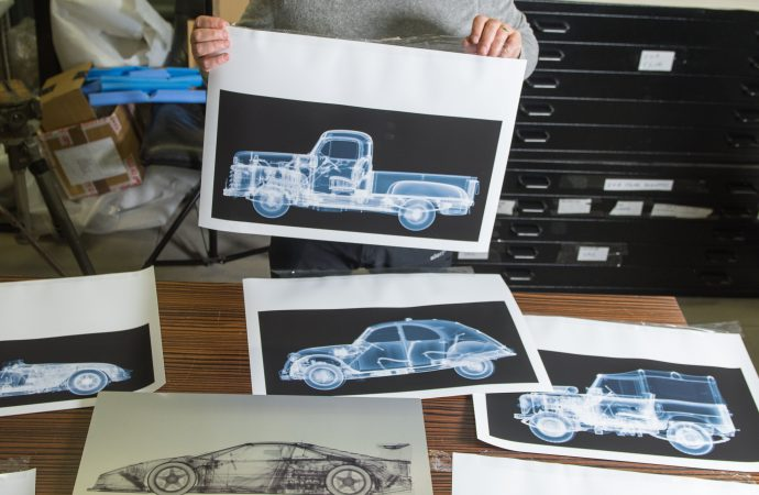 Nick Veasey, X ray photographer at his studio in Maidstone, Kent   SWNS photo