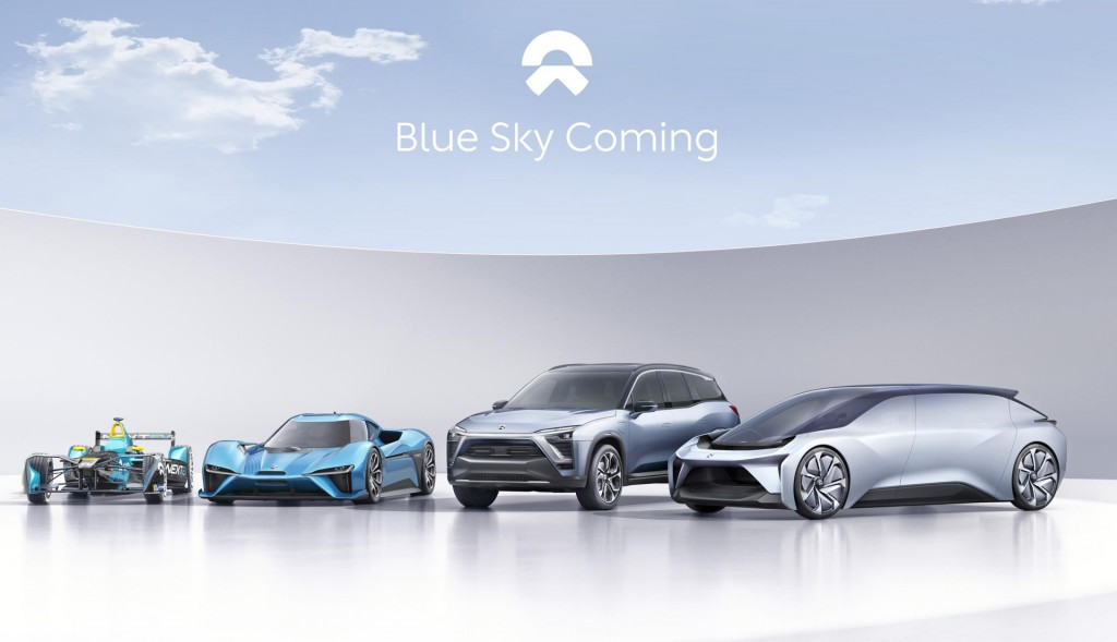Nio Formula E race car, EP9, ES8 and Eve concept car